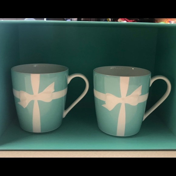 Tiffany & Co. Other - TIFFANY & CO BONE CHINA Blue Bow Ribbon Cup set